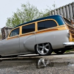 This custom 1953 Chevrolet Handyman was restored by John Waite.