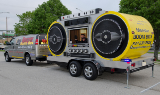 Monster Boom Box provided some great tunes at the cruise night.