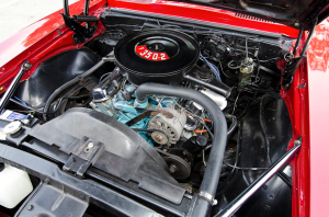 The engine of the 1968 Firebird.