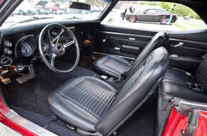 Inside Ken's 1968 Pontiac Firebird.