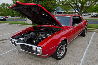 This red 1968 Pontiac Firebird caught our attention.