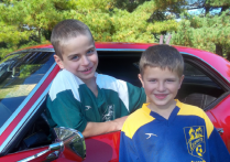 Ken's two boys enjoy thier dad's 1968 Firebird.