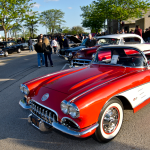 A classic Corvette parked at the Mundelein, Illinois classic car cruise.
