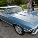 1968 Chevelle parked in the downtown Palatine, Illinois cruise night.