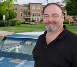 Rick Kasgarisn & his1968 Chevelle parked in the downtown Palatine, Illinois cruise night.