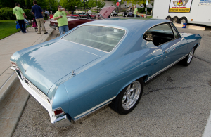 We found this Grotto Blue 1968 Chevelle at the downtown Palatine Illinois cruise night.