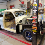 This 1948 Chevrolet Stylemaster is currently being restored.