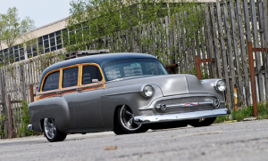 This custom 1953 Chevrolet Handyman was home built by John Waite.