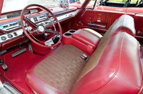 The interior of this 1964 Dodge Custom 880 is original.