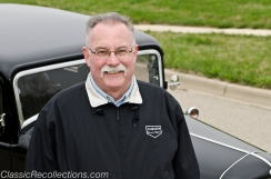 Kurt Jensen owns this black restored 1932 Ford Tudor.