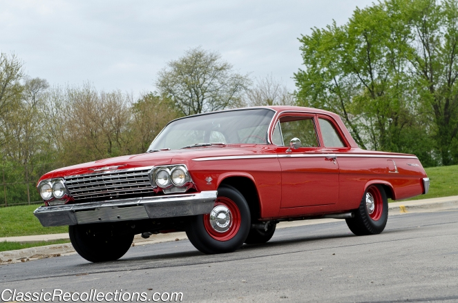 This 1962 Chevrolet Bel Air packs the famous 409 V8 engine.