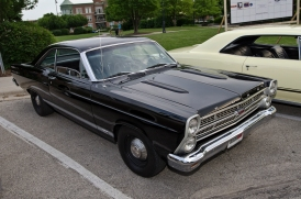 This 1967 Ford Fairlane GTA was at the downtown Palatine, Illinois cruise night and has a 390ci V8 underhood.