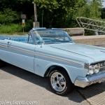 This 1964 Mercury Comet Caliente was restored in Glacier Blue paint.