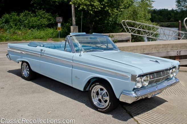 This 1964 Mercury Comet Caliente was restored in Glacier Blue paint.