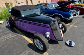 This custom street rod was built in a home garage.