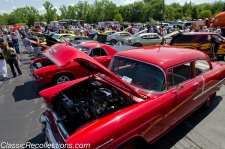 Classic cars and trucks parked at Willow Creek Community Church, in South Barrington, Illinois for Dadfest 2012.