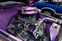 A Chevy 350ci V8 was installed.