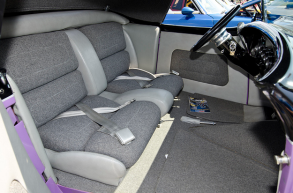 Boyd Coddinton completed the leather and tweed interior.