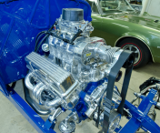 A Chevy 383 V8 was installed.