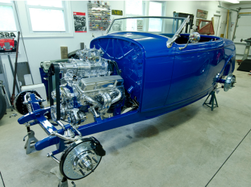 Gary Heidt is building this 1932 Ford roadster.