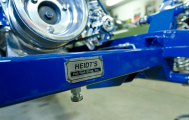 Heidt's suspension is installed on this 1932 Ford Roadster.