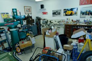 Gary Heidt's home workshop.