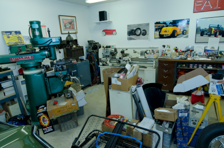 Gary Heidt's home workshop.