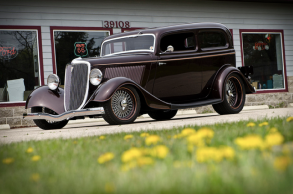 This 1934 Ford Tudor was built from scratch.