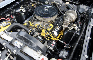 A 390ci V8 is underhood this 1967 Ford Fairlane GTA.