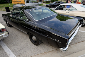 Brian Bending drives his 1967 Ford Fairlane GTA to the downtown Palatine Illinois cruise night.