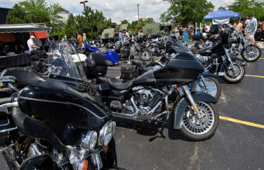 A section of Dadfest 2012 was reserved for motorcycles to be displayed.
