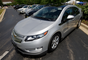 A  Chevrolet Volt was part of the 'hybrid circle'.