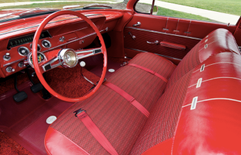 This classic 1962 Chevrolet Bel Air has the famed '409' V8 underhood.