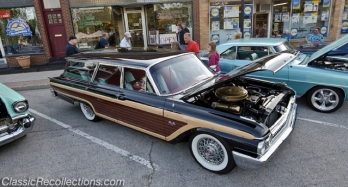 This 1961 Ford Country Squire station wagon has been fully restored.