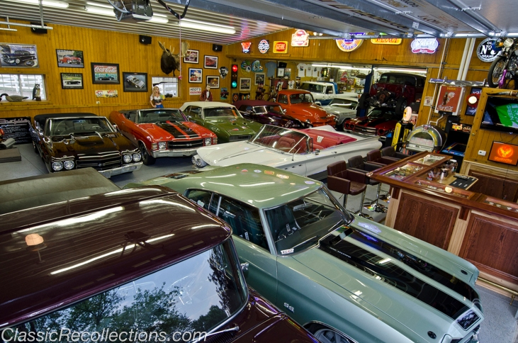 Chuck Barnes's built this barn to house his horses and classic muscle cars.