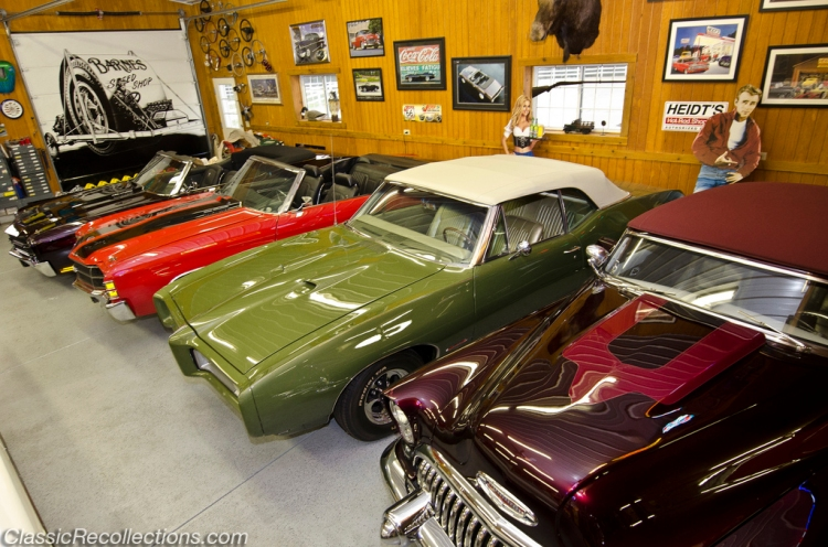This dream garage houses not only classic muscle cars but also real show horses.
