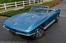 This blue restored 1966 Chevrolet Corvette was sent to a dealer in Canada.
