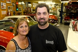 Chuck and his wife Dawn, have built a barn to hold their classic muscle cars and horses.