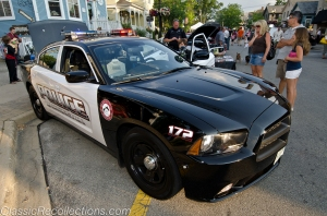 The Barrington Police will typically bring out a few vehicles to the classic car cruise.