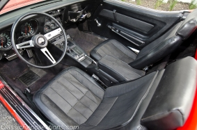 This red 1969 Corvette was restored as a tribute.