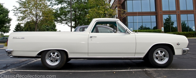 This classic 1965 Chevrolet El Camino was found in Iown, towing a race car.