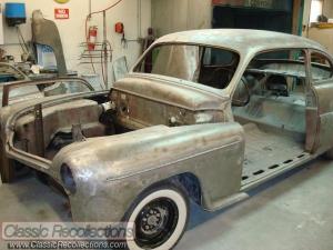 A roadside fire destroyed this 1949 Mercury custom.