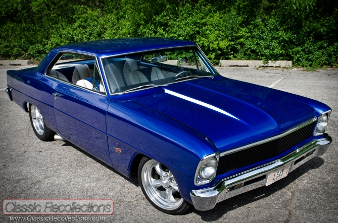 This 1966 Chevrolet Chevy II Nova was restored and customized, using a LSX V8 crate engine.