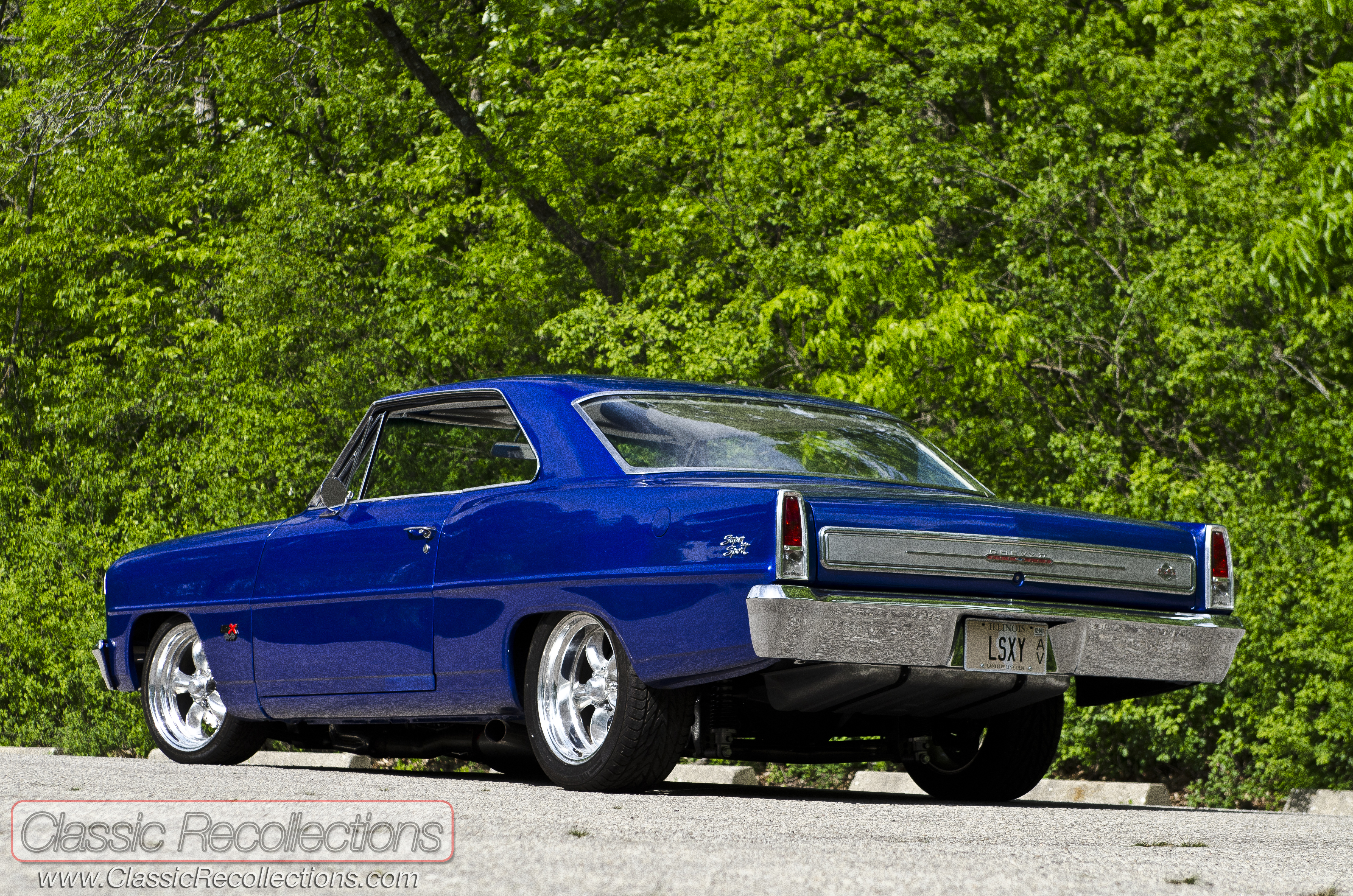 after a full overhaul this 1966 chevrolet chevy ii nova turned into a wild custom the exterior paint color is impulse blue - Blue Auto Paint Colors