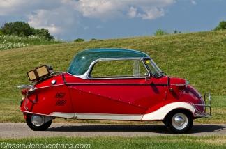 This 1955 Messerschmitt KR200 Kabinenroller has been fully restored.