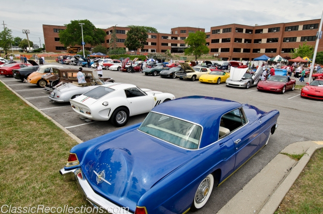 Classic cars were parked at the Great Lakes Naval Station VA hospital 12th annual car show.