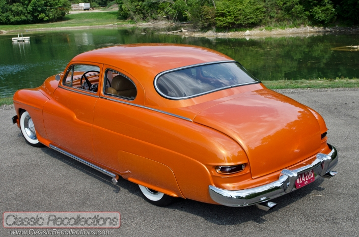 A roadside fire destroyed this 1949 Mercury custom.