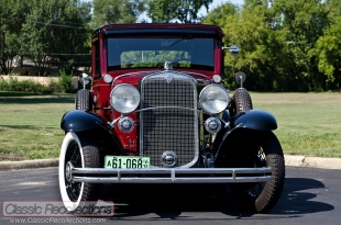 This Harvard Crimson 1931 Chevrolet Deluxe Sport was fully restored, after being nothing more than a parts car.