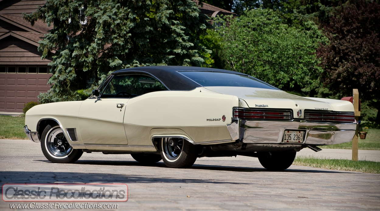 This 1968 Buick Wildcat is painted in Desert Sand and was sold at Palm Buick, in Oak Park, Illinois.