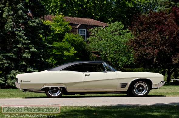 This 1968 Buick Wildcat was restored in Desert Sand paint and was first sold at Palm Buick in Oak Park, Illinois.